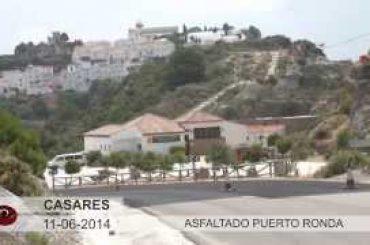 """VÍDEO: Obras de mejora en el firme desde la curva de """"Las Cadenitas"""" hasta el Puerto de Ronda"""