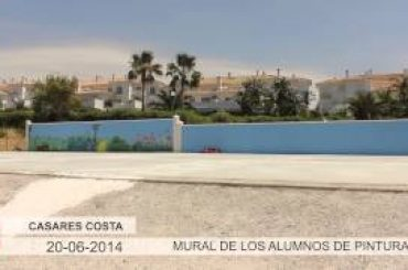 VÍDEO: Mural de pintura realizado por los niños de Casares Costa