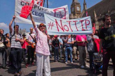 Plataformas contra el Fraking y el TTIP, hoy, en Tierra