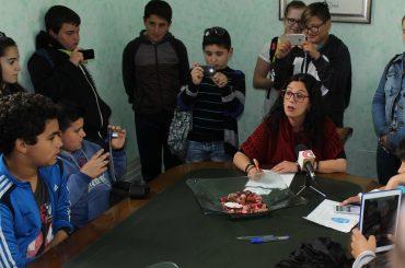 Escolares del colegio Blas Infante visitan hoy el Ayuntamiento dentro del proyecto Ágora Infantil.