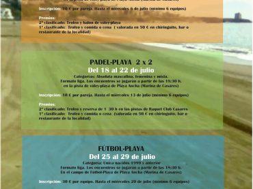 Playa Ancha se conveirte en un polideportivo al aire libre