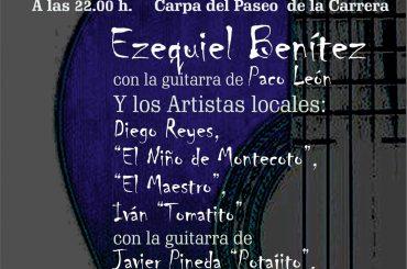 El cantaor Ezequiel Benítez encabeza este sábado el cartel del Festival Flamenco