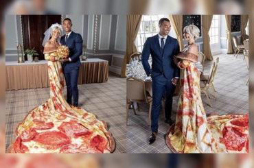 Noticias curiosas | Traje de novia-pizza